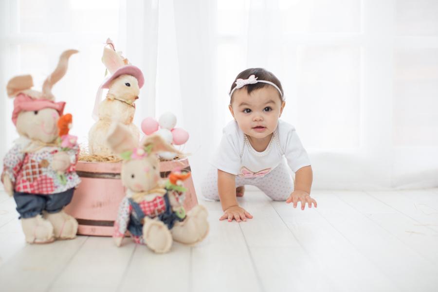 ensaio de bebe de páscoa