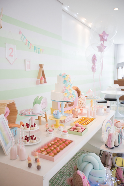 mesa decorada de aniversario