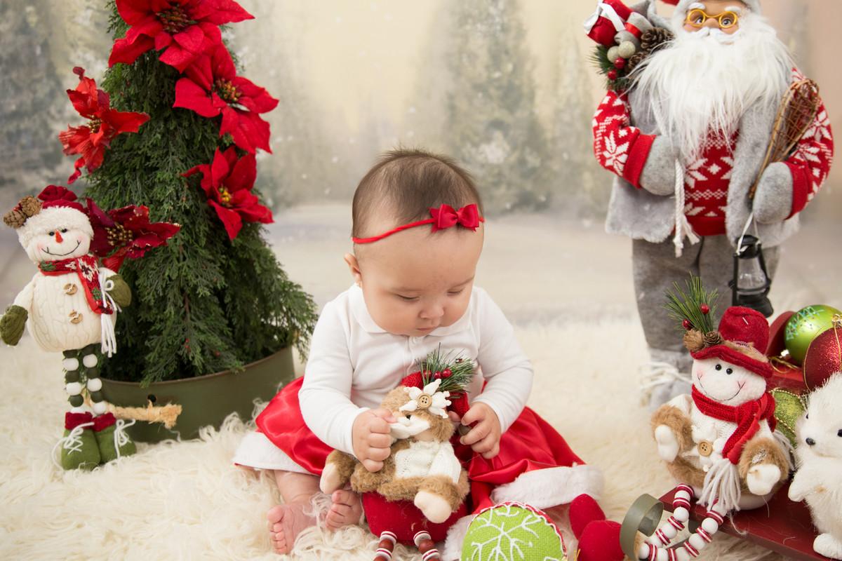 fotografia de crianca de natal