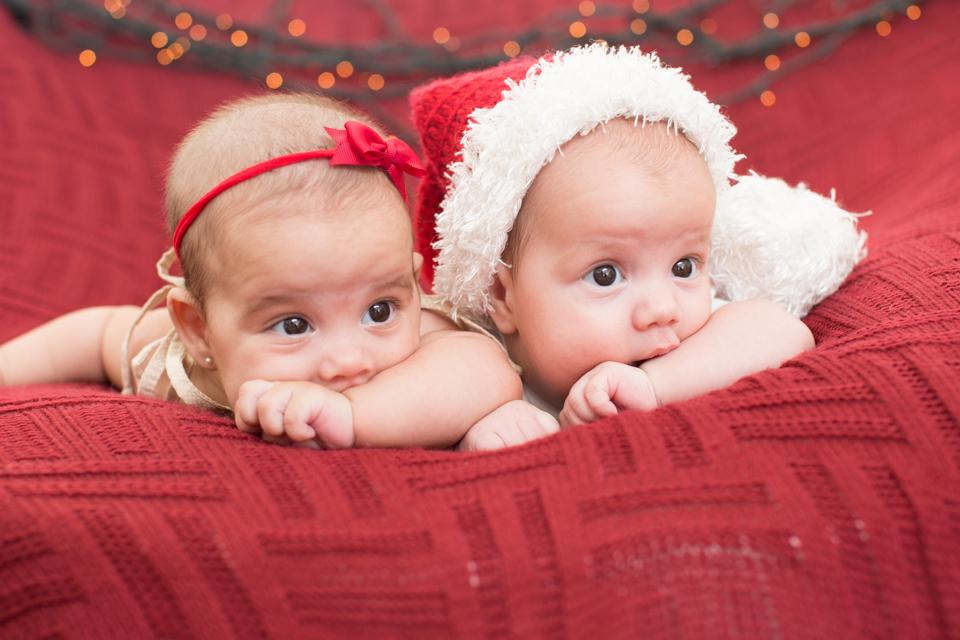 mini ensaio de gemeos de natal