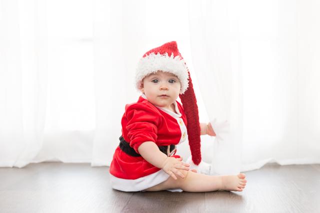 ensaio de bebe de natal