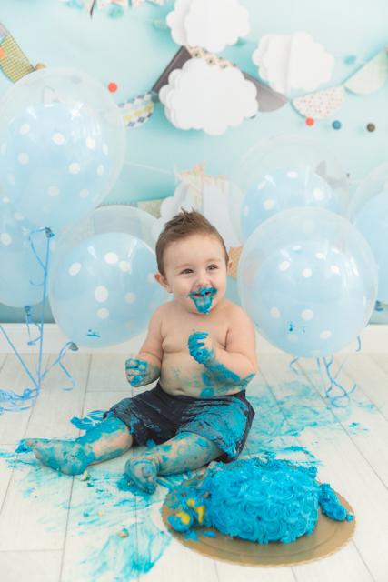 Smash the cake azul