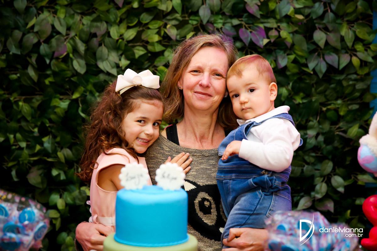 Foto de Aniversário 4 Anos Luiza e 1 Ano Felipe