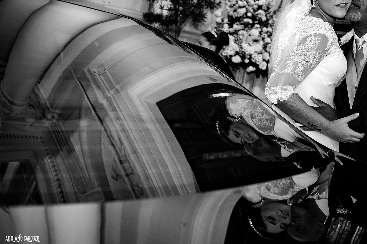 Chegada da noiva na igreja - Rio de Janeiro