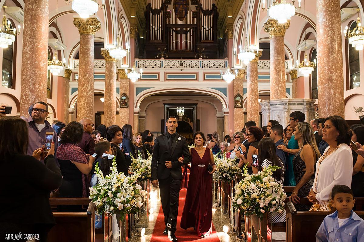 Noivo chegando no altar - Rio de Janeiro