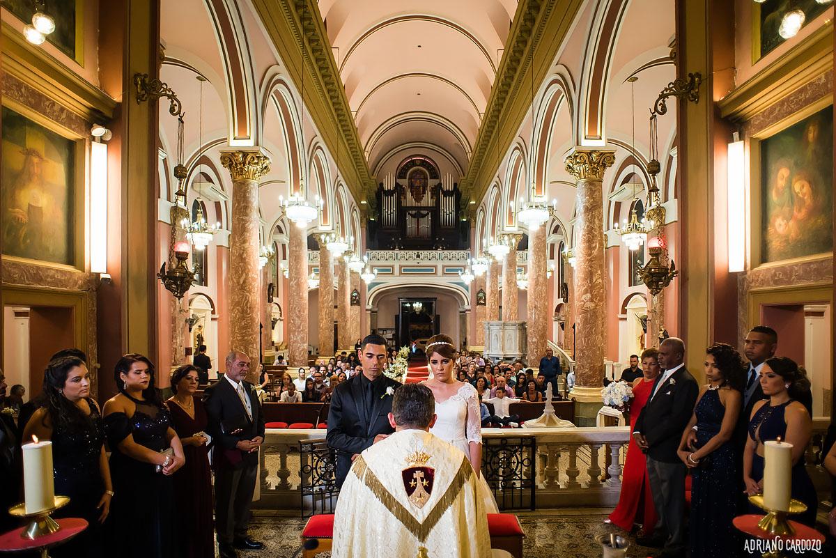 Noivos no altar - Rio de Janeiro