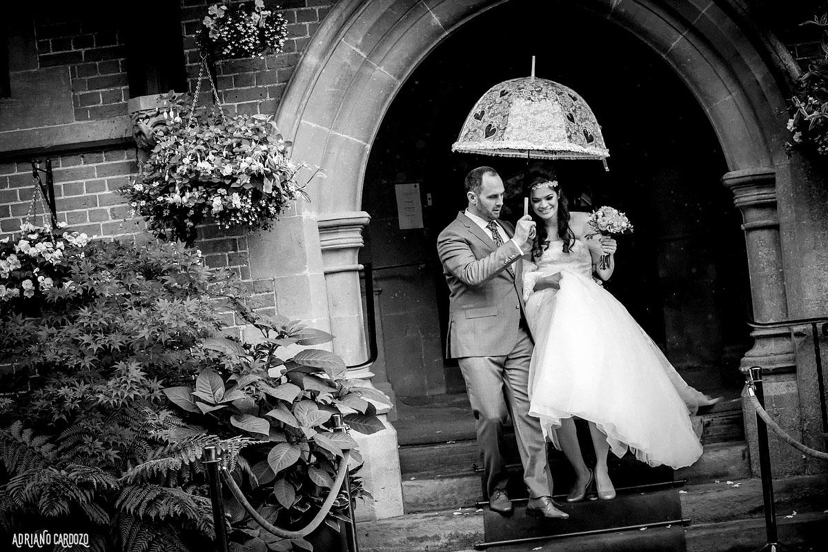 Fotografia dos noivos em Londres