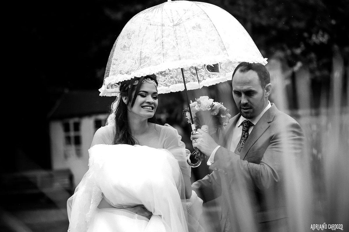 Casamento em preto e branco - Londres