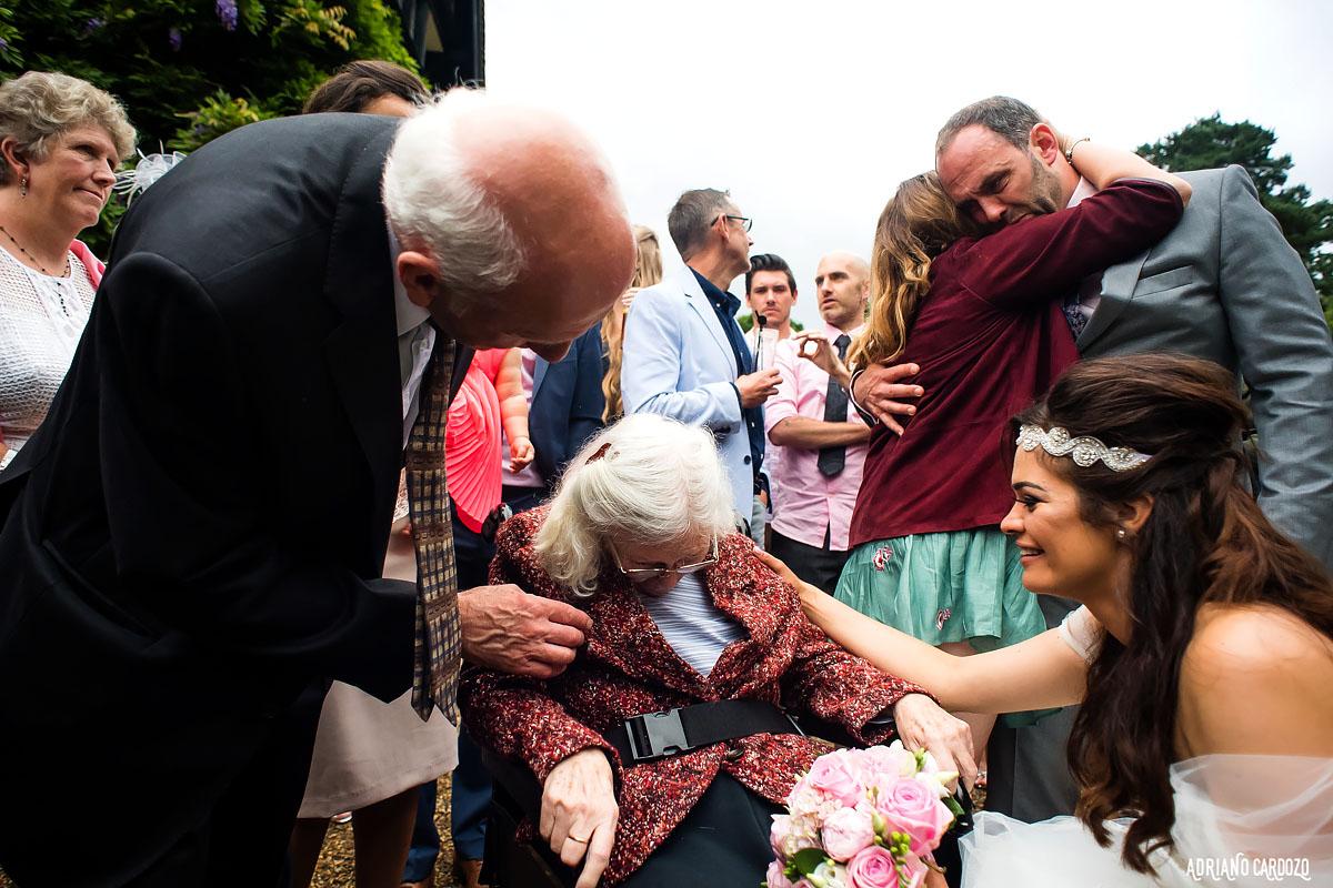 Carinho de parentes - Casamento em Londres