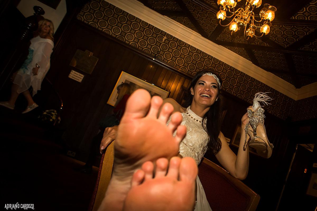 Noiva depois da festa - Fotografia profissional de casamento em Londres