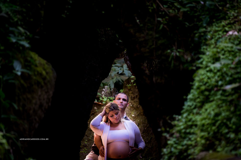 Fotografia de Gestante no Parque no RJ Laje por Adriano Cardozo