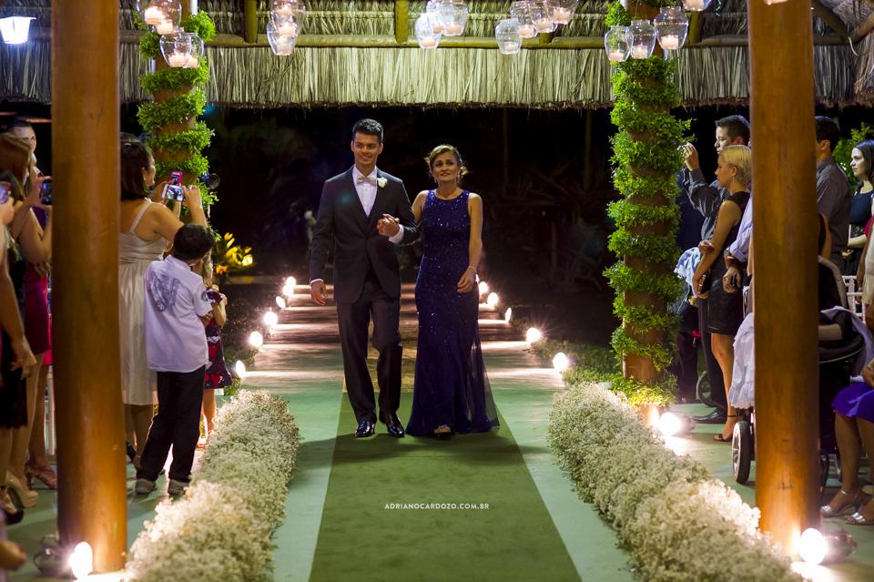 Cerimônia de Casamento no Clube Ginástico Português, entrada do noivo por Adriano Cardozo