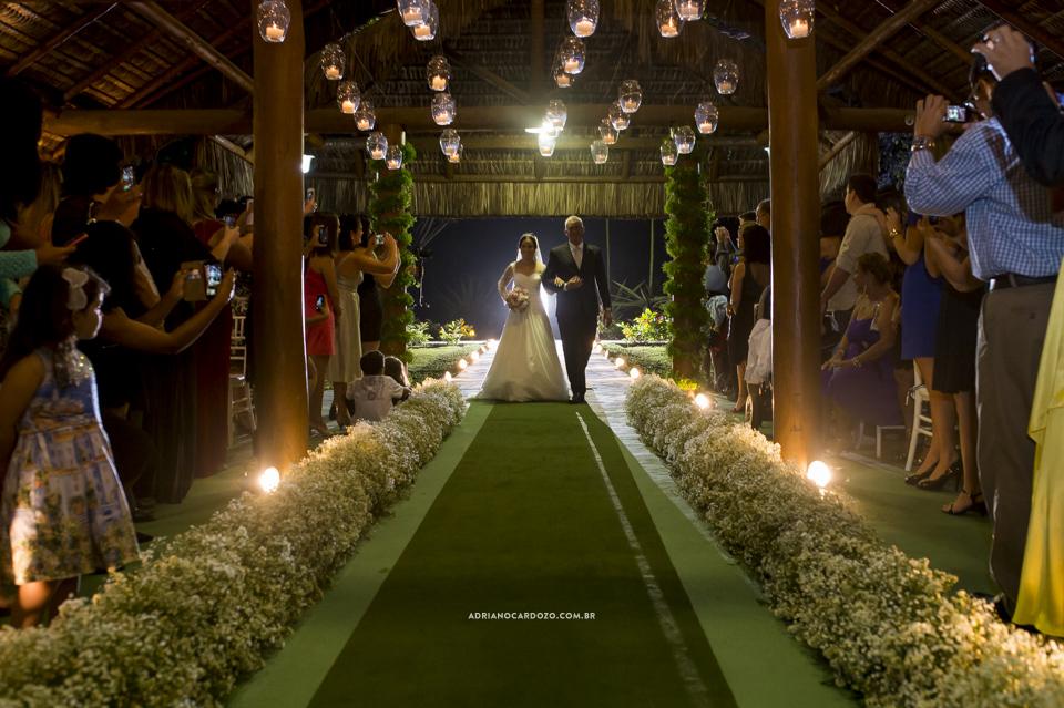 Cerimônia de Casamento no Clube Ginástico Português, entrada da noiva por Adriano Cardozo