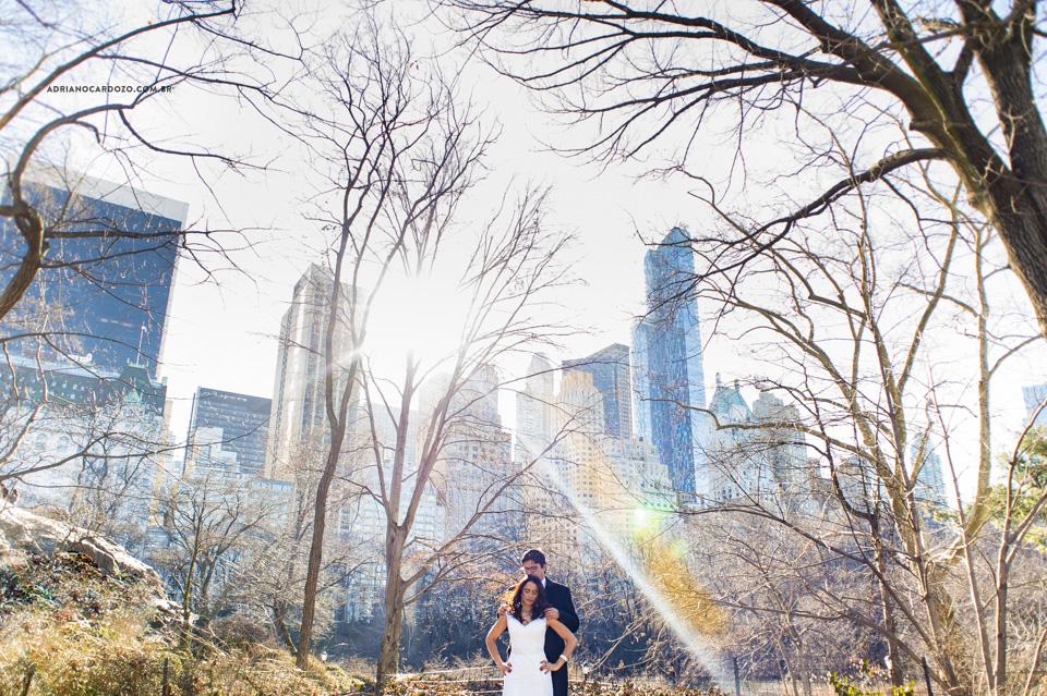 Trash The Dress Central Park Nova York. Ensaio de casal no Central Park em Nova York por Adriano Cardozo.