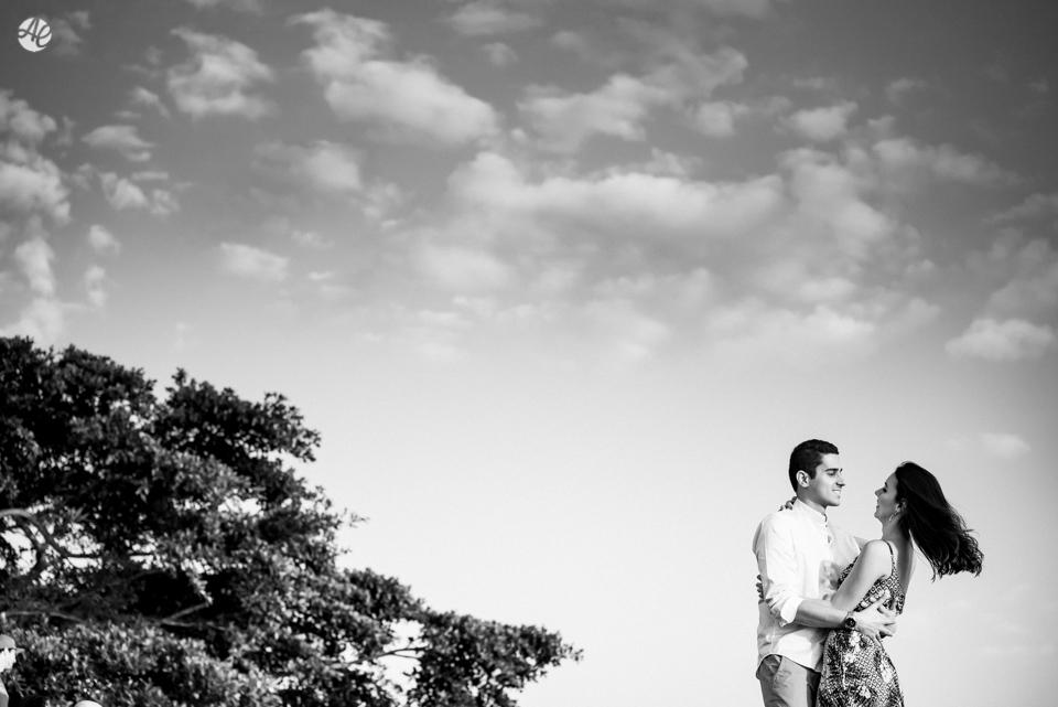 Ensaio de casal no Parque da Cidade, em Niterói.