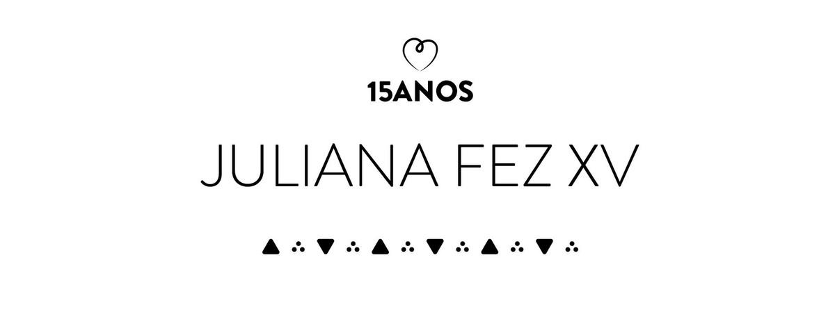 album | Juliana - 15 Anos