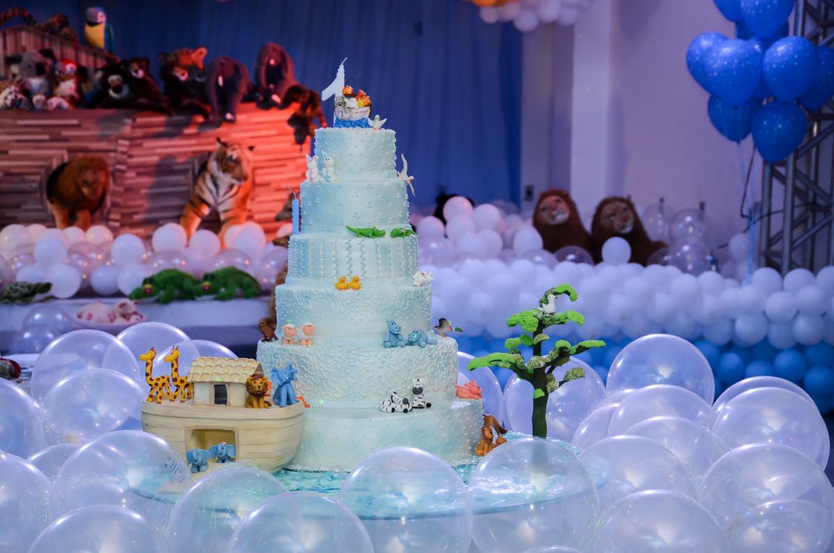 Bolo Azul em festinha de aniversário