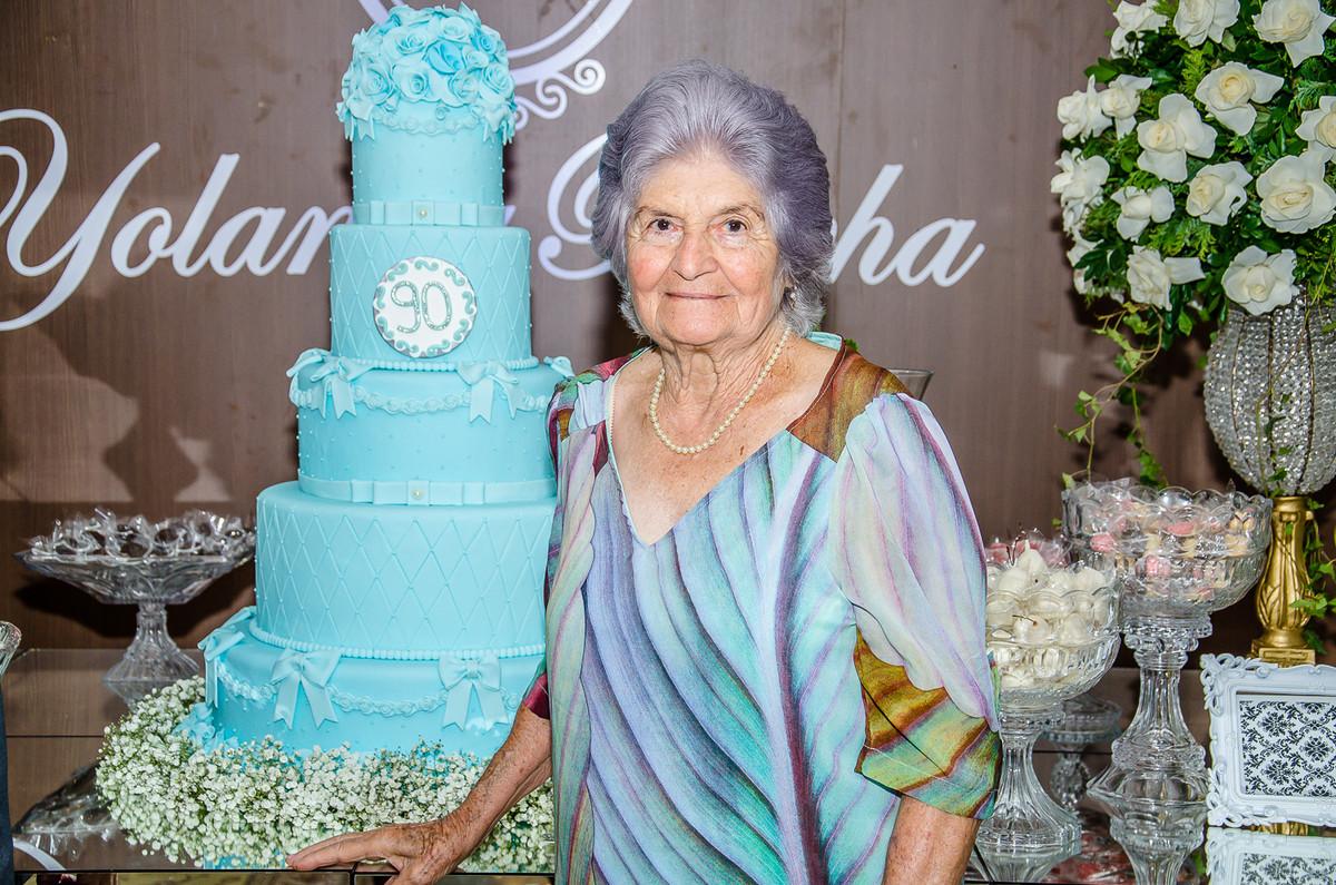 Yolanda Rocha comemorando seus 90 anos