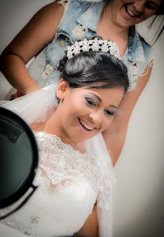 Noiva preparando para o casamento