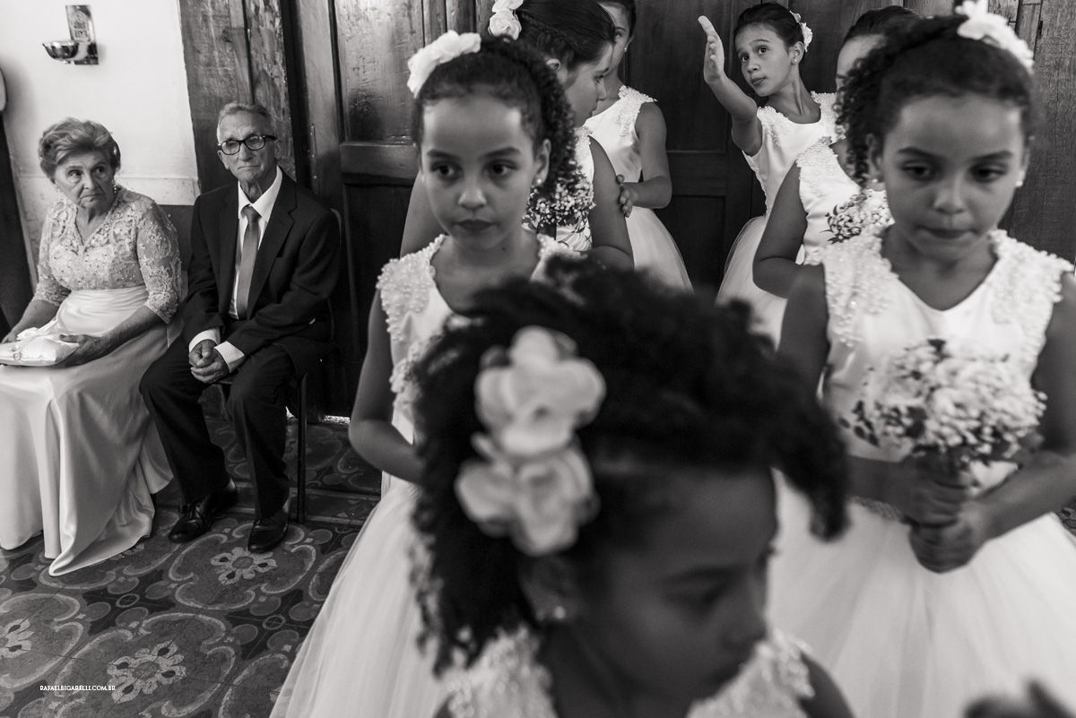 alianças crianças daminhas preto e branco
