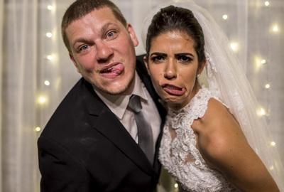 Capa do álbum do Wedding de Stella + André fotografados por Rafael Bigarelli Fotógrafo de casamento