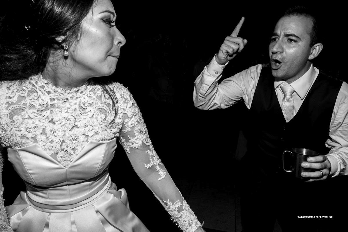 final de festa casamento preto e branco