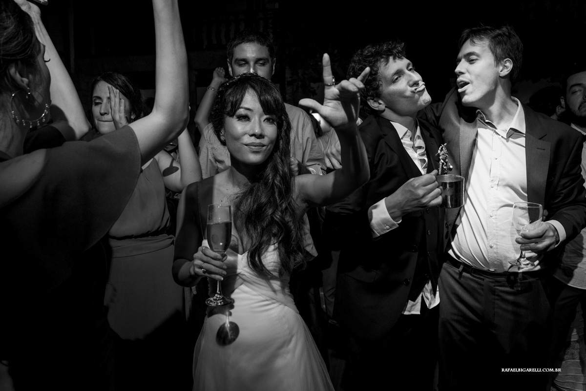 festa casamento preto e branco