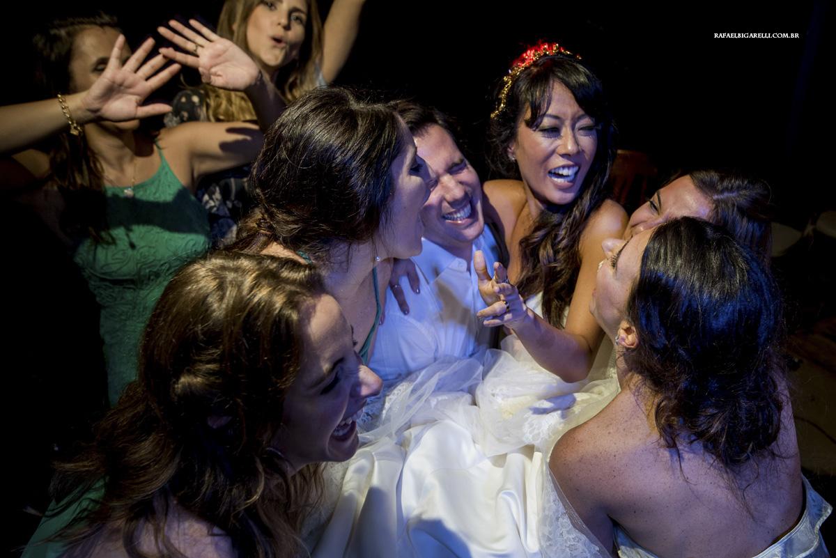 madrinhas e noiva festa de casamento