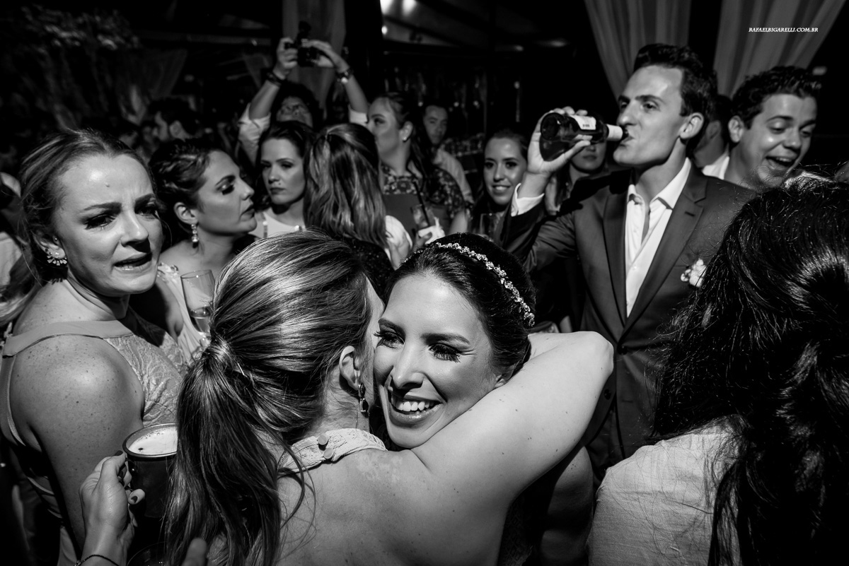 festa de casamento preto e branco