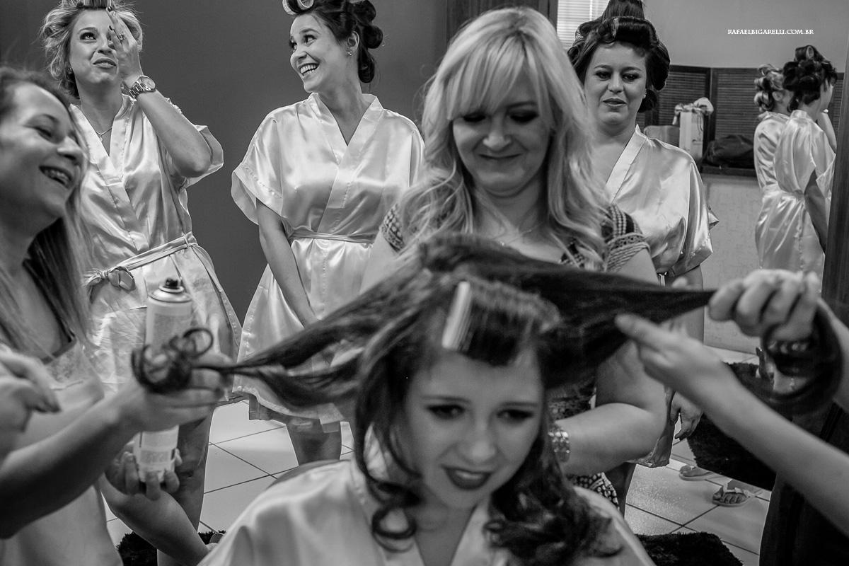 diversão no making of da noiva