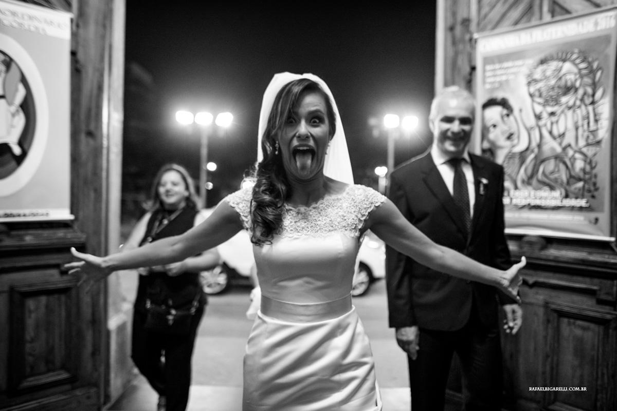 entrada de noiva não convencional