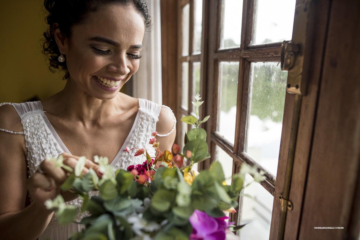 retrato de noiva no casamento