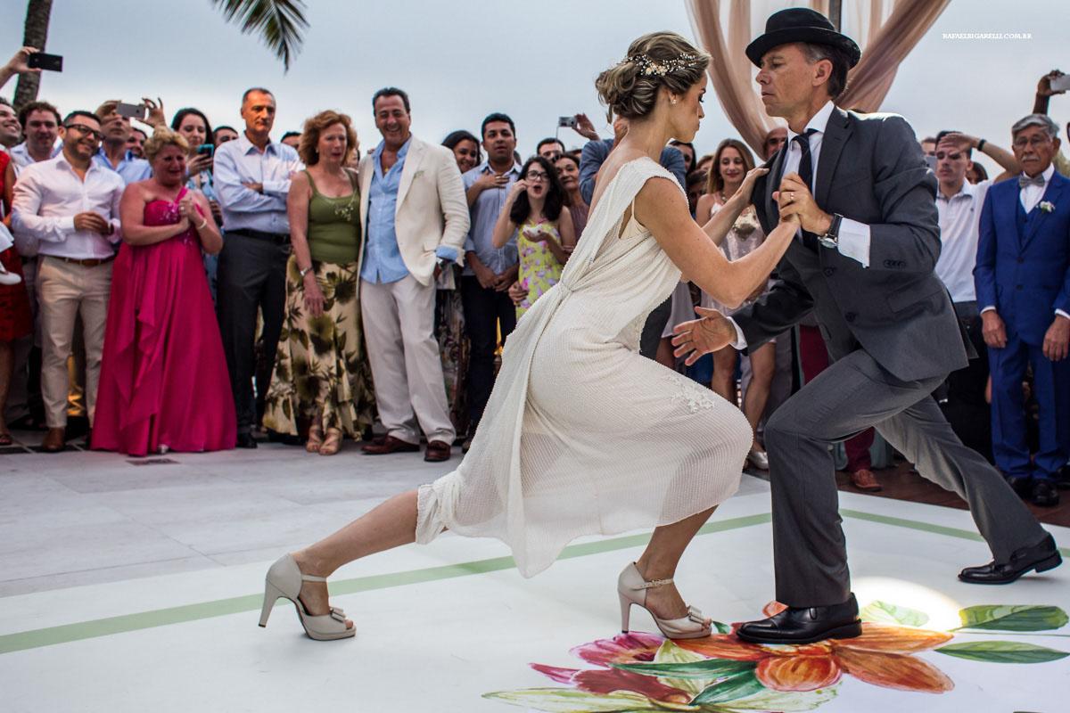 tango em casamento na praia