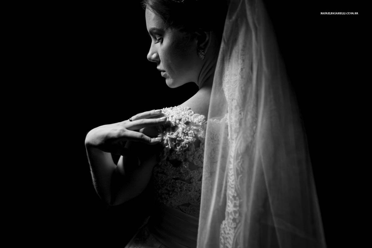 retrato de noiva preto e branco
