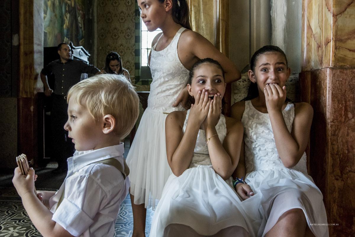 crianças casamento daminhas