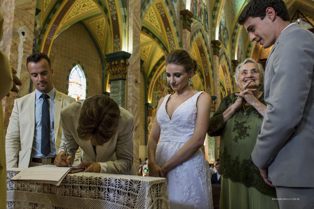 assinatura dos noivos vó casamento