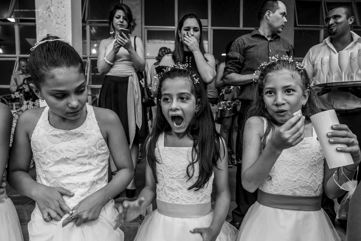 convidados do casamento preto e branco