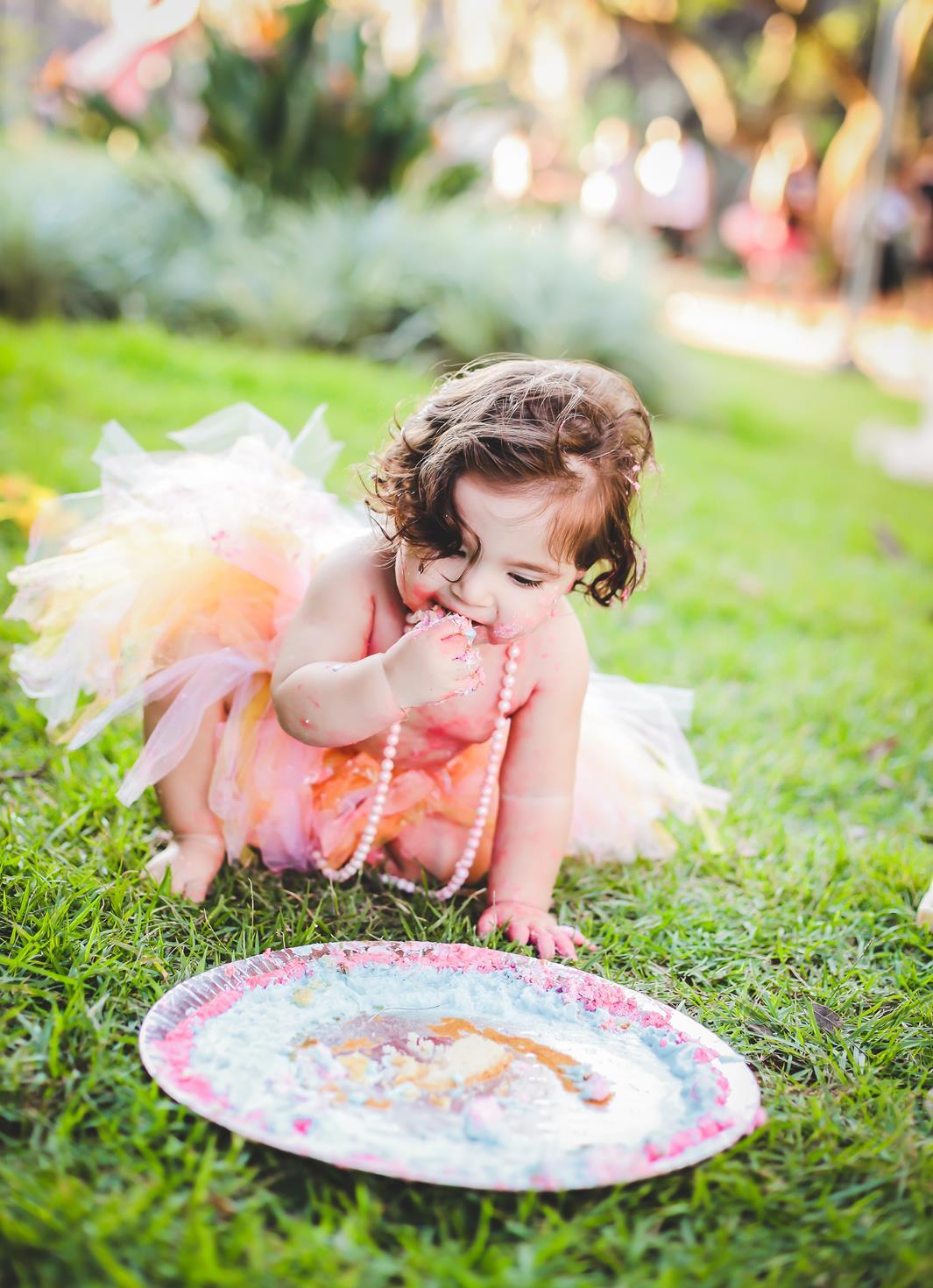 Fotografia de bolo com bebe