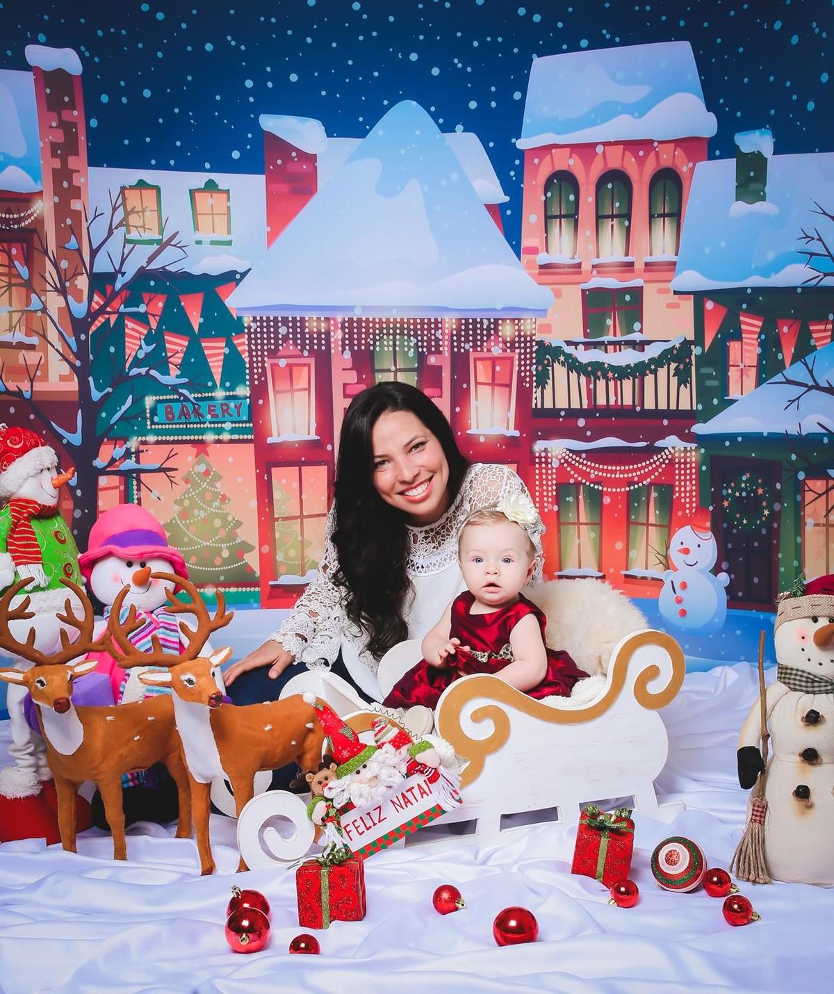 Fotos lindas de Natal  mãe e filha