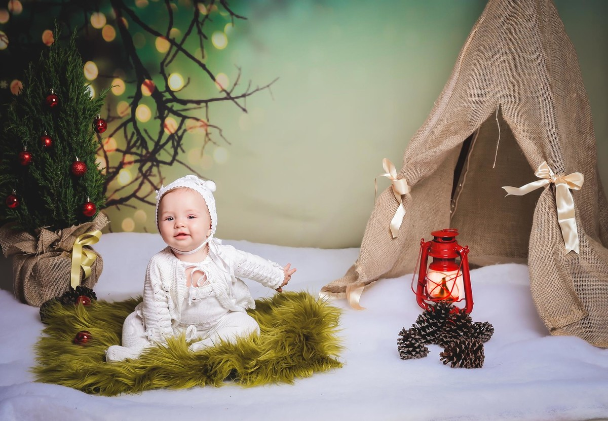 Fotos lindas de Natal bebe