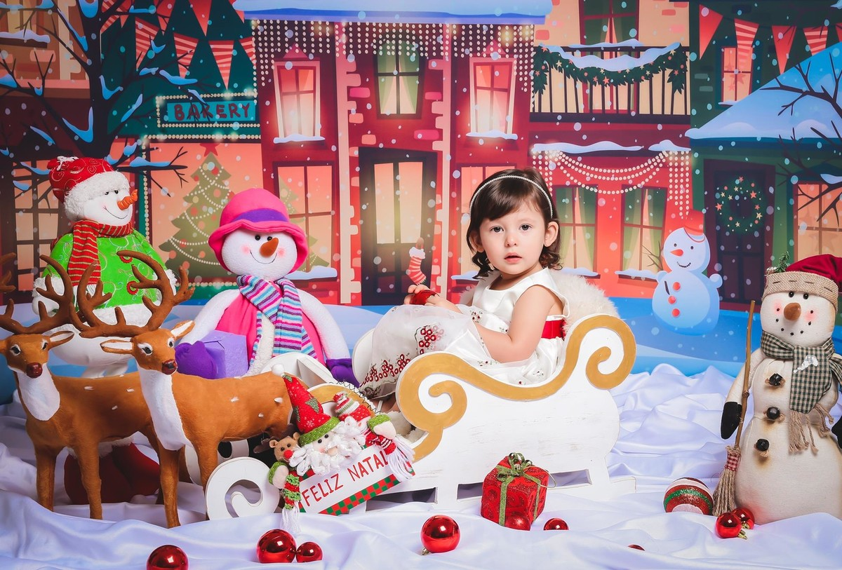 Fotos lindas de Natal menina