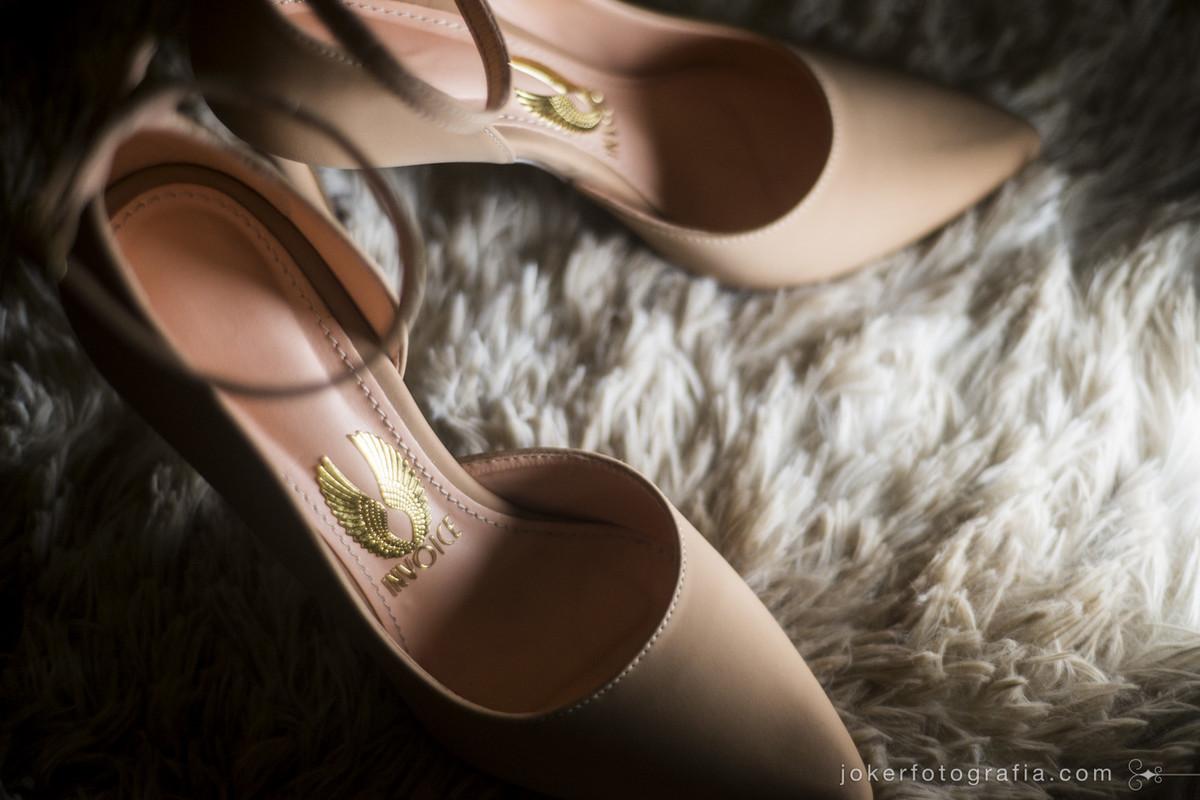 sapato da noiva bege modelo scarpin