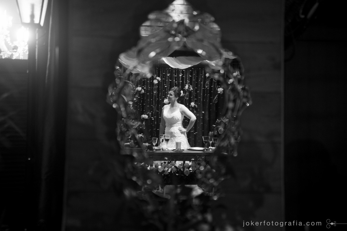 usando espelhos na decoração do casamento