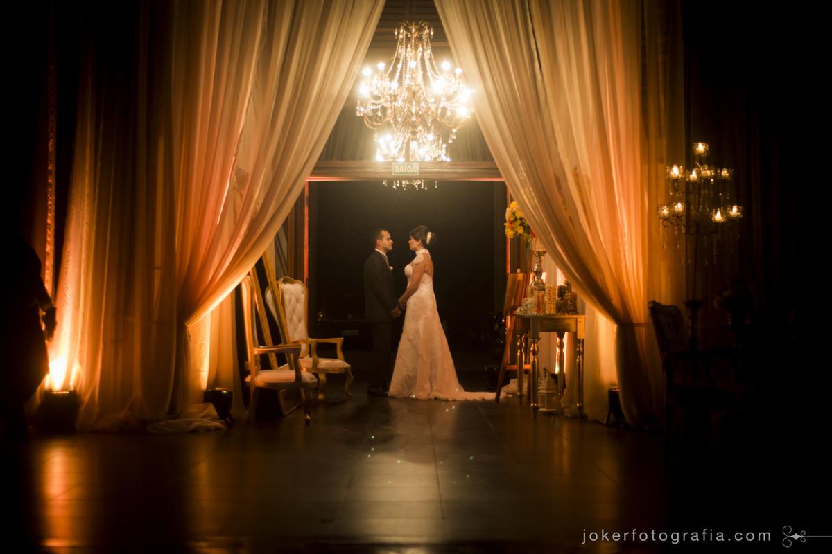 salão clássico para o dia do casamento