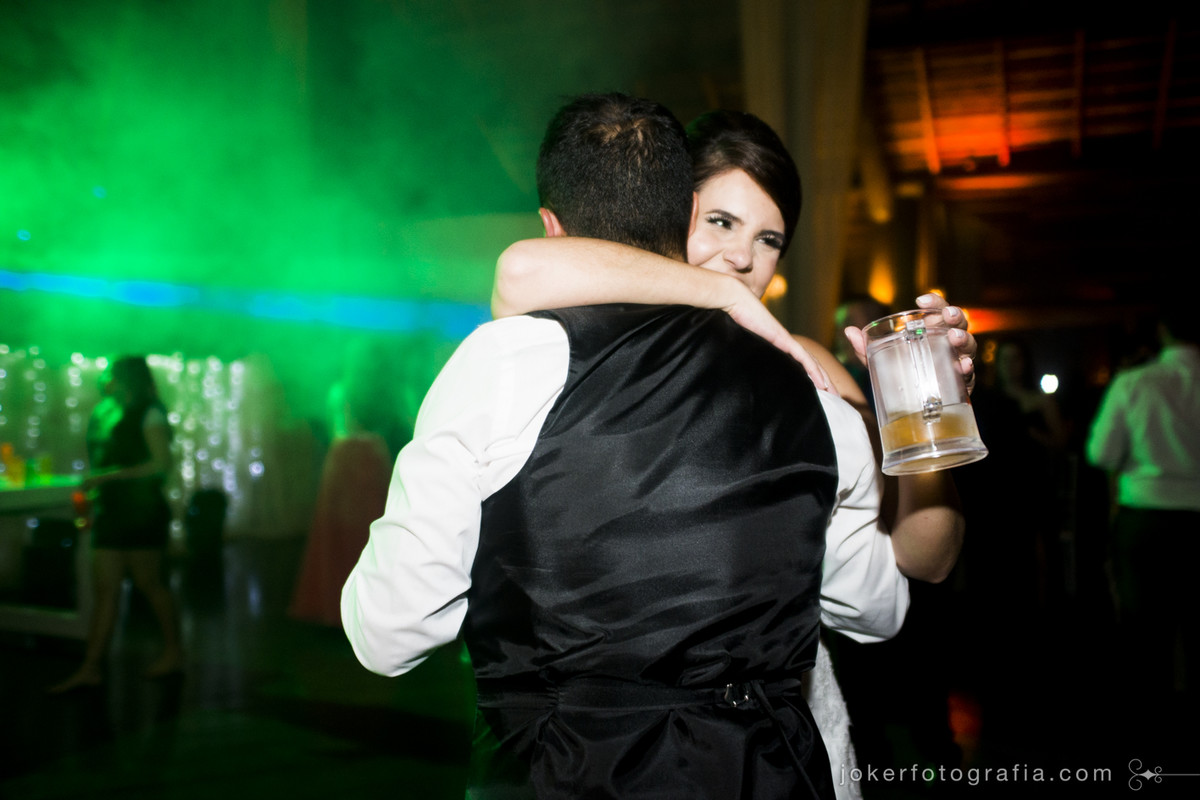 iluminação cênica na festa de casamento