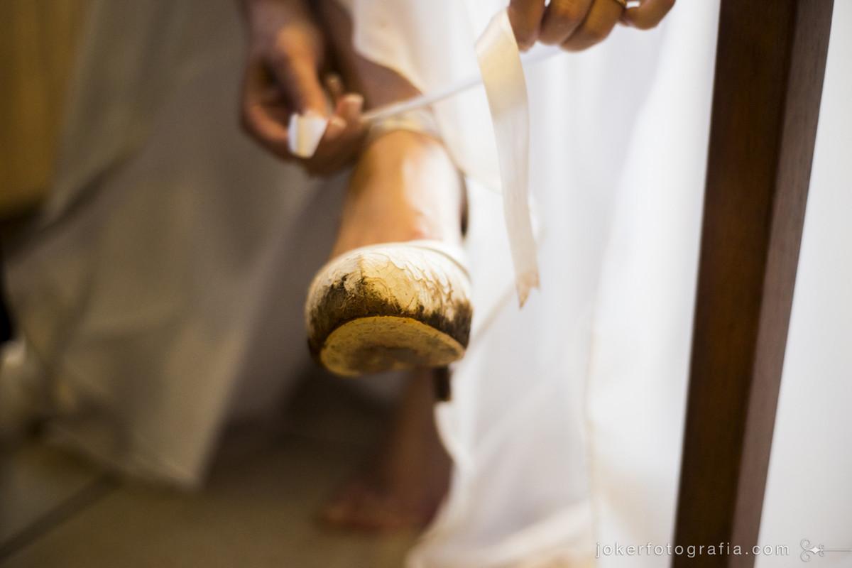 sapato da noiva lama