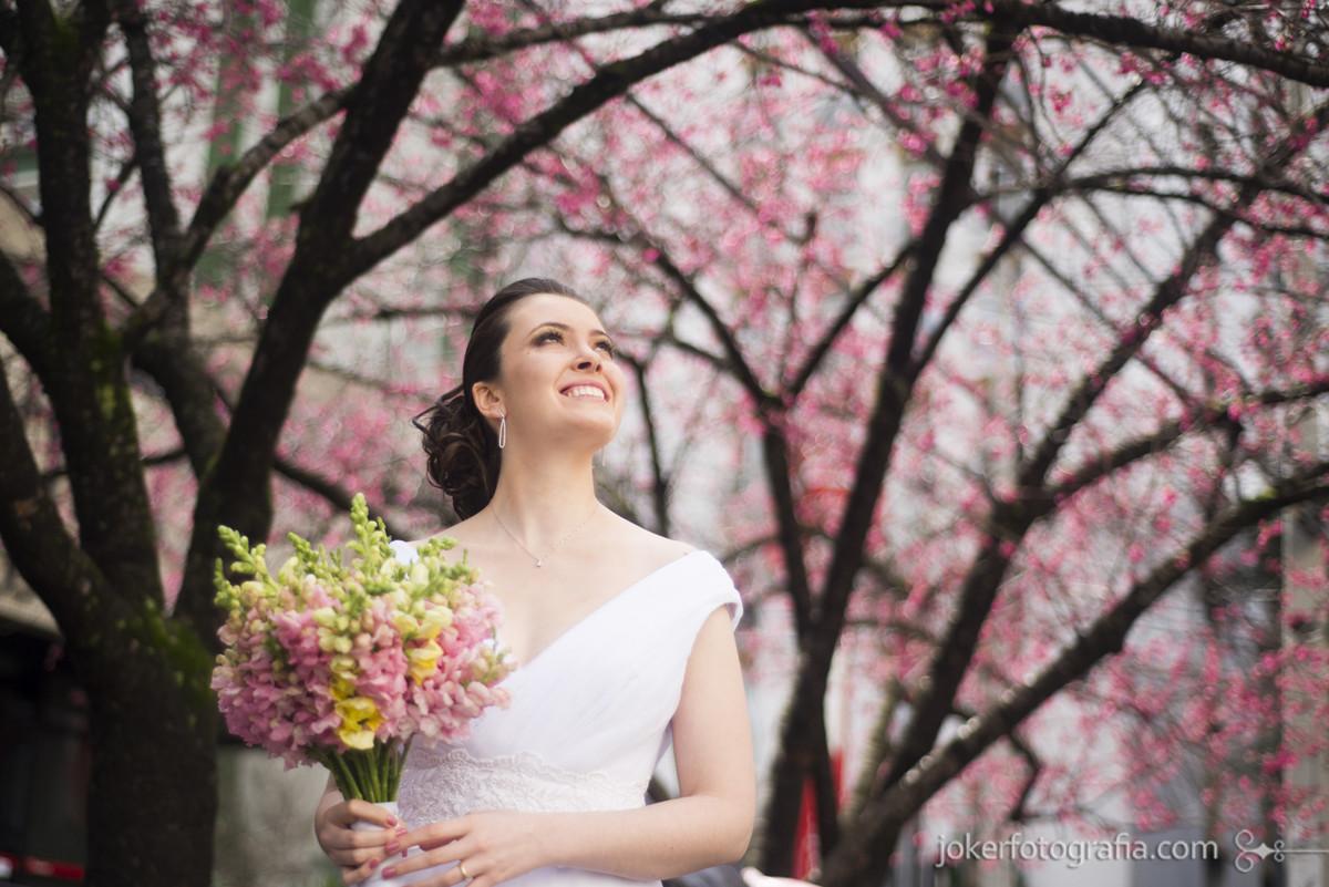 ensaio de noiva nas cerejeiras casamento