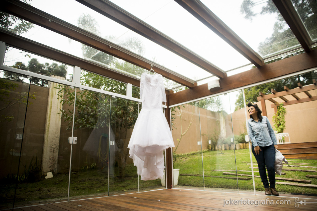 vestido da noiva making of