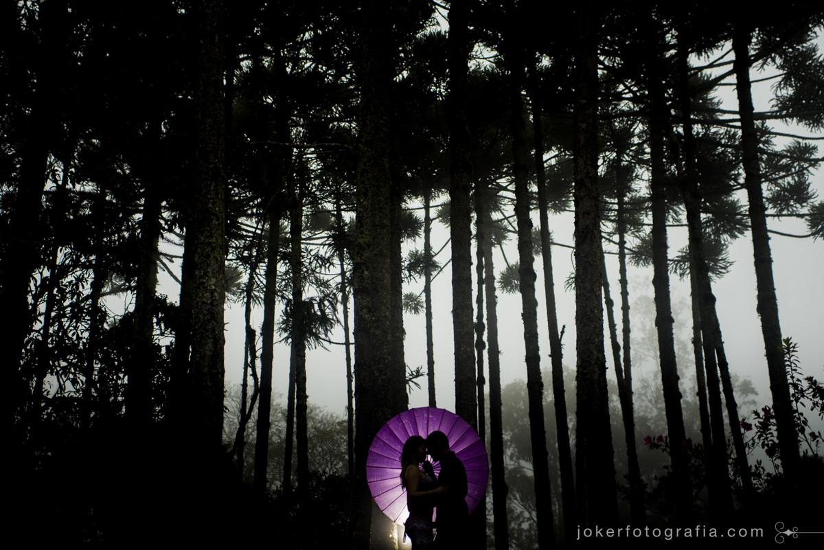 fotógrafo em curitiba faz ensaio pre wedding em dia de chuva fotografar em dia chuvoso na floresta bosque de araucarias