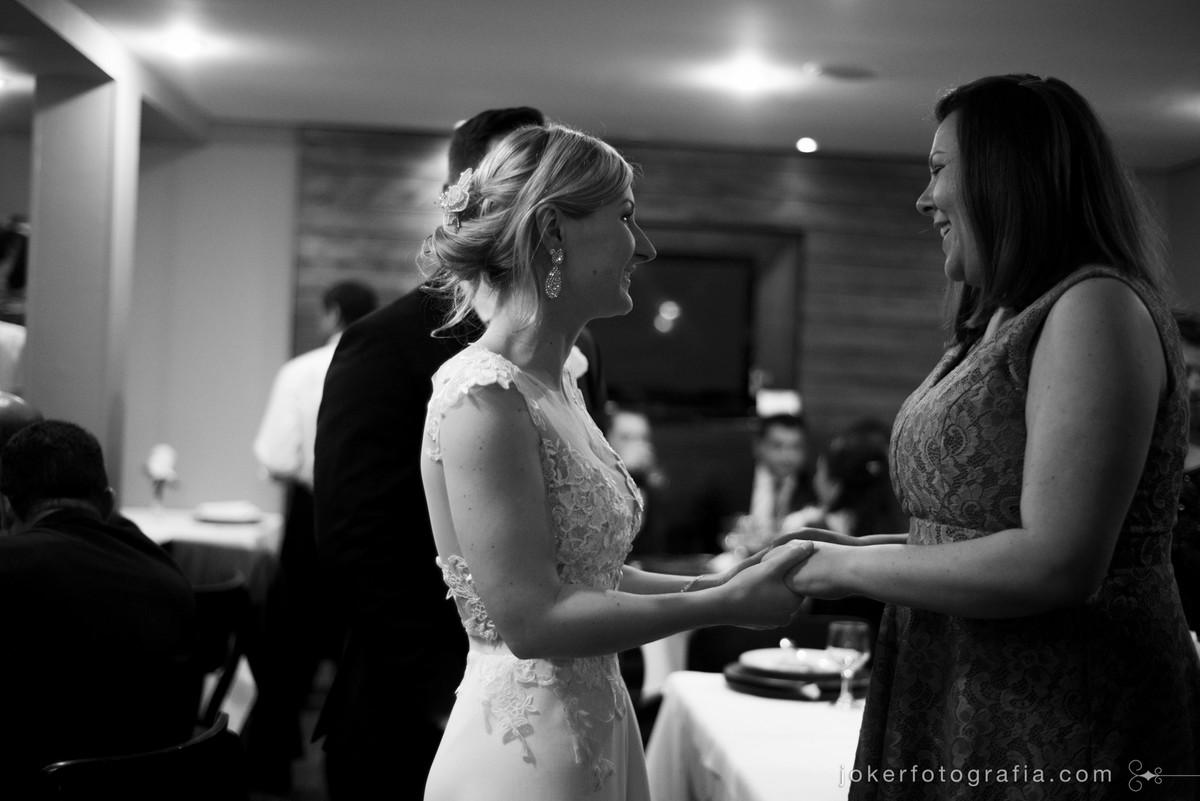 madrinha e amiga da noiva fotografia preto e branco